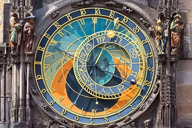 Astronomical Clock of Old Town Hall</br> in the Czech capital of Prague